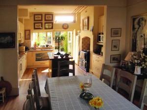 Kitchen leading to garden image