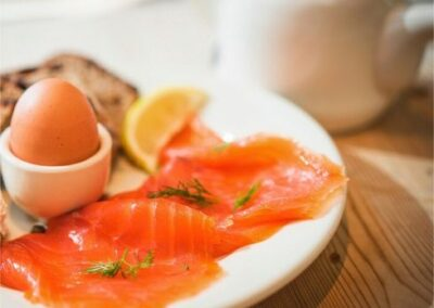 Smoked Salmon & Boiled Eggs